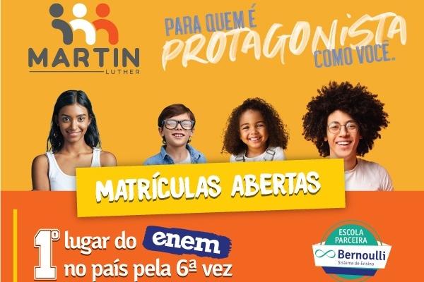 MARTIN LUTHER SEGUE COM MATRÍCULAS ABERTAS PARA O ANO LETIVO DE 2021